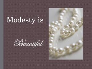 Modesty is Beautiful image