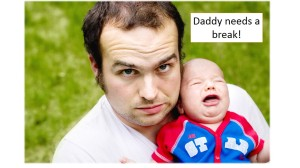 tired daddy image